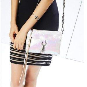 Rebecca Minkoff mini Mac opal pearlized bag